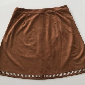 Women's faux suede skirt